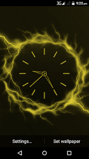 Electric Glow Clock Live WallPaper - náhled