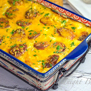 Cheesy Kielbasa Potato Casserole