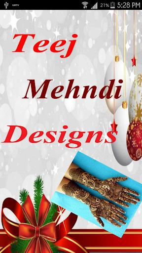 Teej Mehndi Designs