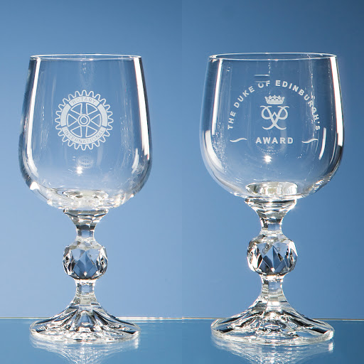 Engraved Wine Glasses & Crystal Goblets