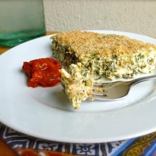 Spinach and Feta Crustless Quiche Recipe