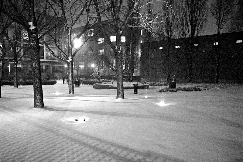 Photo: That nor'easter? It ended up being weaker than expected here in New England.  Made for nice night time pictures, though.