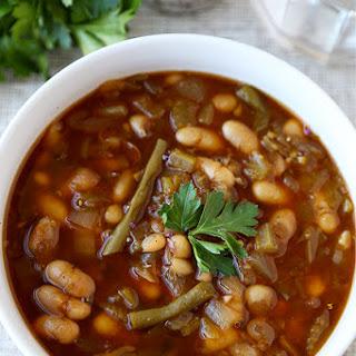 Slow Cooker White Bean Chili Soup.