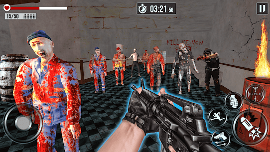 Into The Zombie Dead Land: Zombie Shooting Games 1.0.8 Mod + Data for Android 2