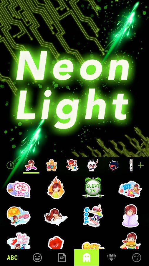 Neon-Light-Emoji-Kika-Keyboard 12