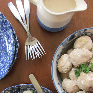 Turkey and Brown Rice Swedish Meatballs.