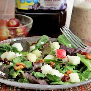 Apple Walnut Salad with Grape Salad Dressing.