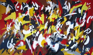 """Photo: Тадеуш Жаховский """"Карнавал. Carnival"""", 98х165см, акрил, оргалит. О наличии картины просьба контактировать галерею.Также предлагается напечатанная на холсте репродукция этой картины в любом размере."""