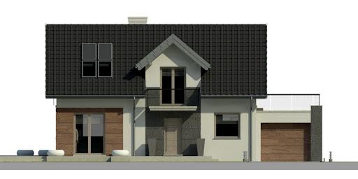 Dom przy Alabastrowej 2 - Elewacja przednia