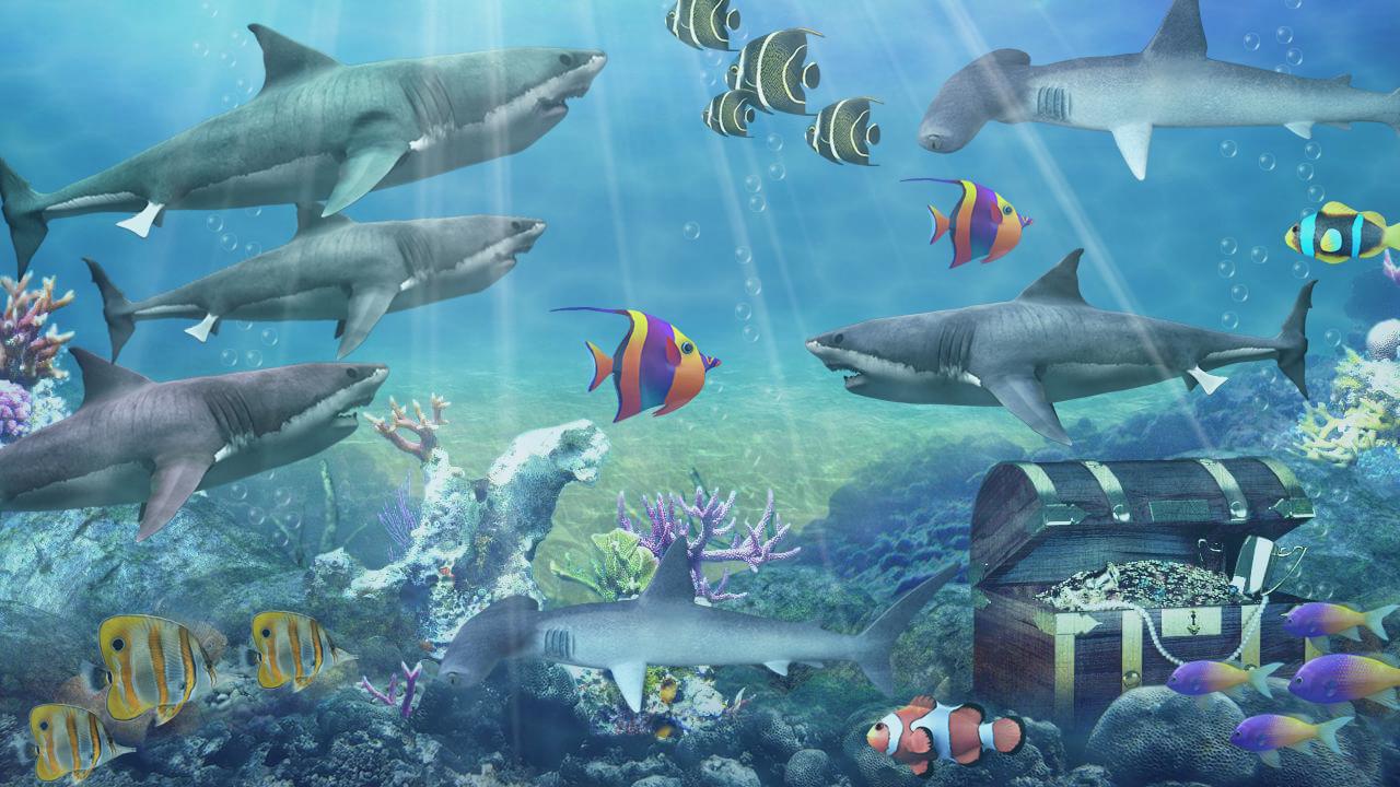 Fish tank sharks - Shark Aquarium Live Wallpaper Screenshot