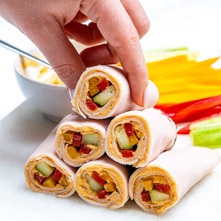 Turkey + Veggie + Hummus Wraps Recipe