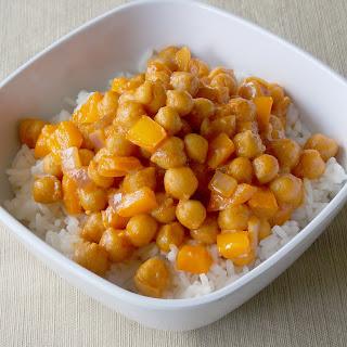Coconut Curry Garbanzo Beans.