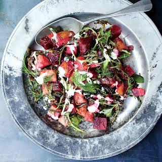 Marinated Beets with Potatoes and Horseradish.