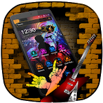 Rock and roll Music 2D theme Icon