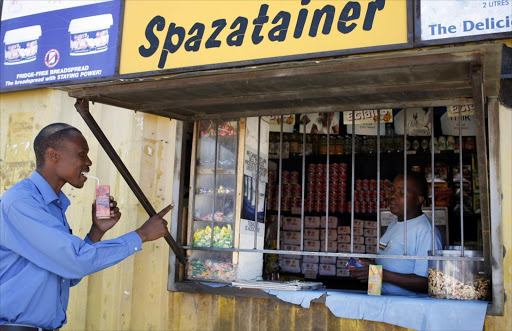 A spaza shop in Alexandra. Picture: MARIANNE SCHWANKHART