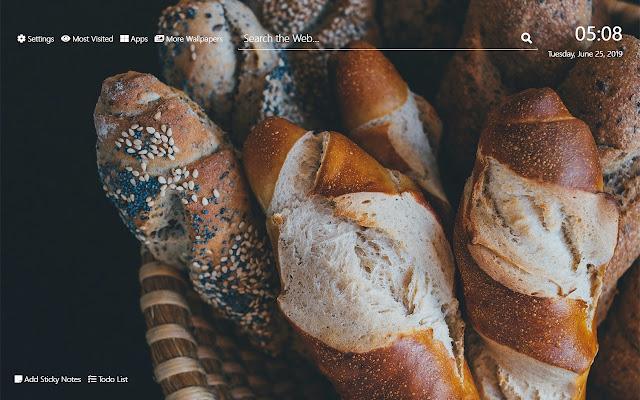 Bread Wallpaper HD New Tab Theme