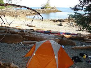 Photo: My campsite near Niblack Point.