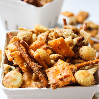 Cheesy Brown Butter Chex Mix.