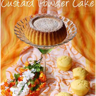 Eggless Custard Powder Cake.