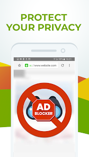 Free Adblocker Browser - Adblock & Popup Blocker Screenshot