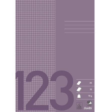 Räknehäfte A4 5x5mm violett