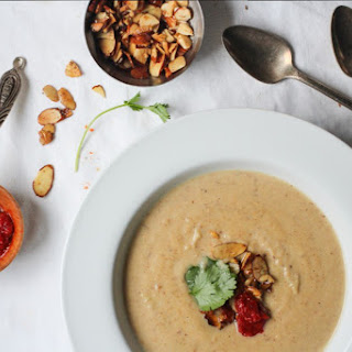 Roasted Cauliflower and Moroccan-Spiced Almond Soup.