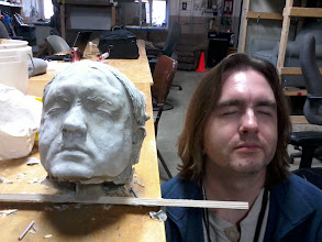 Photo: The resulting cement head after tearing off the mold.