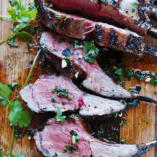 Spiced Grilled Rack of Lamb.