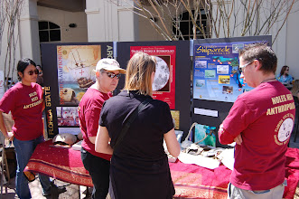 Photo: Dr. Rochelle Marrinan (sunglasses, just left of center) at the Kleiman Plaza science event