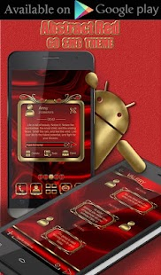 Abstract Red 3D Next Launcher theme - náhled