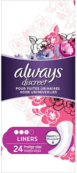 Always Discreet Incontinence Liners For Sensitive Bladder - 24 Liners