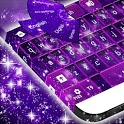 Violet Sparkly Galaxy Keyboard icon
