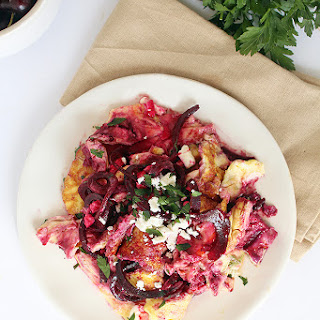 Beet Noodle, Feta and Avocado Omelet Recipe