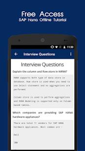 SAP HANA Offline Tutorial - náhled