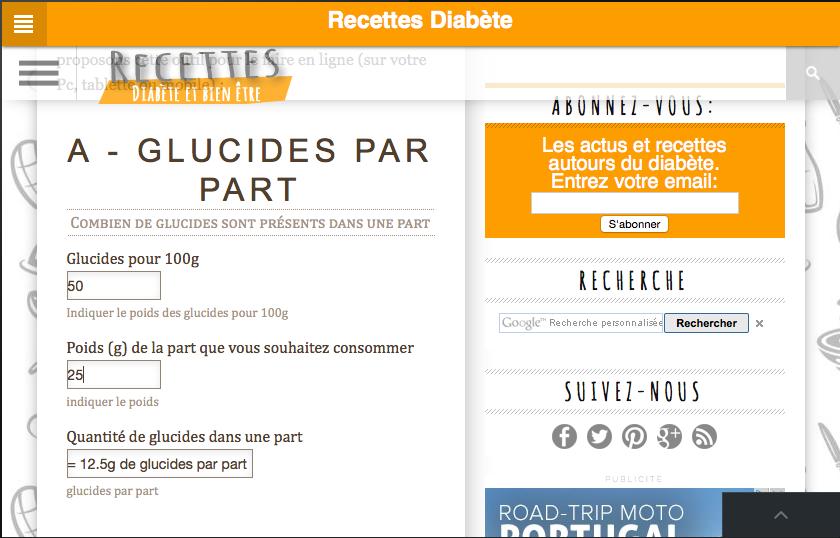 Recettes pour diabétiques - screenshot