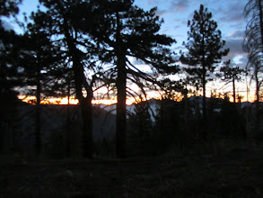 Photo: Pre-sunrise view east from Copter Ridge