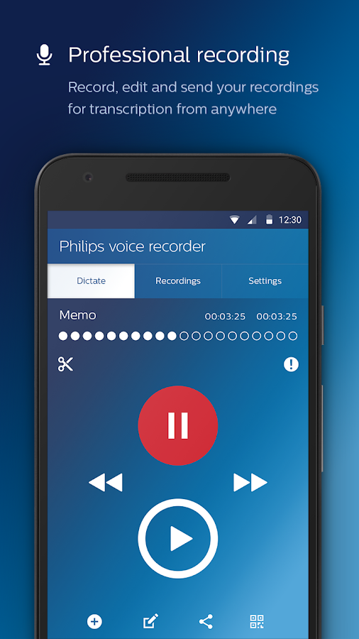 Philips voice recorder- screenshot