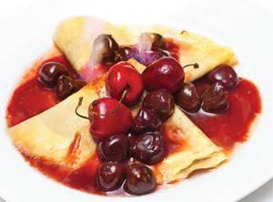 Cherries Royale Crepes Recipe