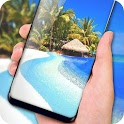 Beach Live Wallpaper Free - Tropical Island Themes icon