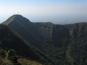 Photo: The crater we walked up to the peak