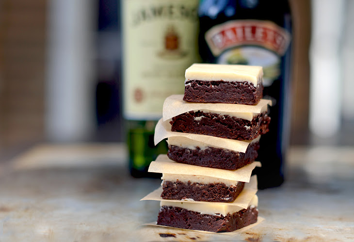 Boozy Irish Brownies Recipe