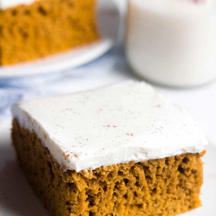 Pumpkin Cake with Cream Cheese Frosting Recipe | Yummly