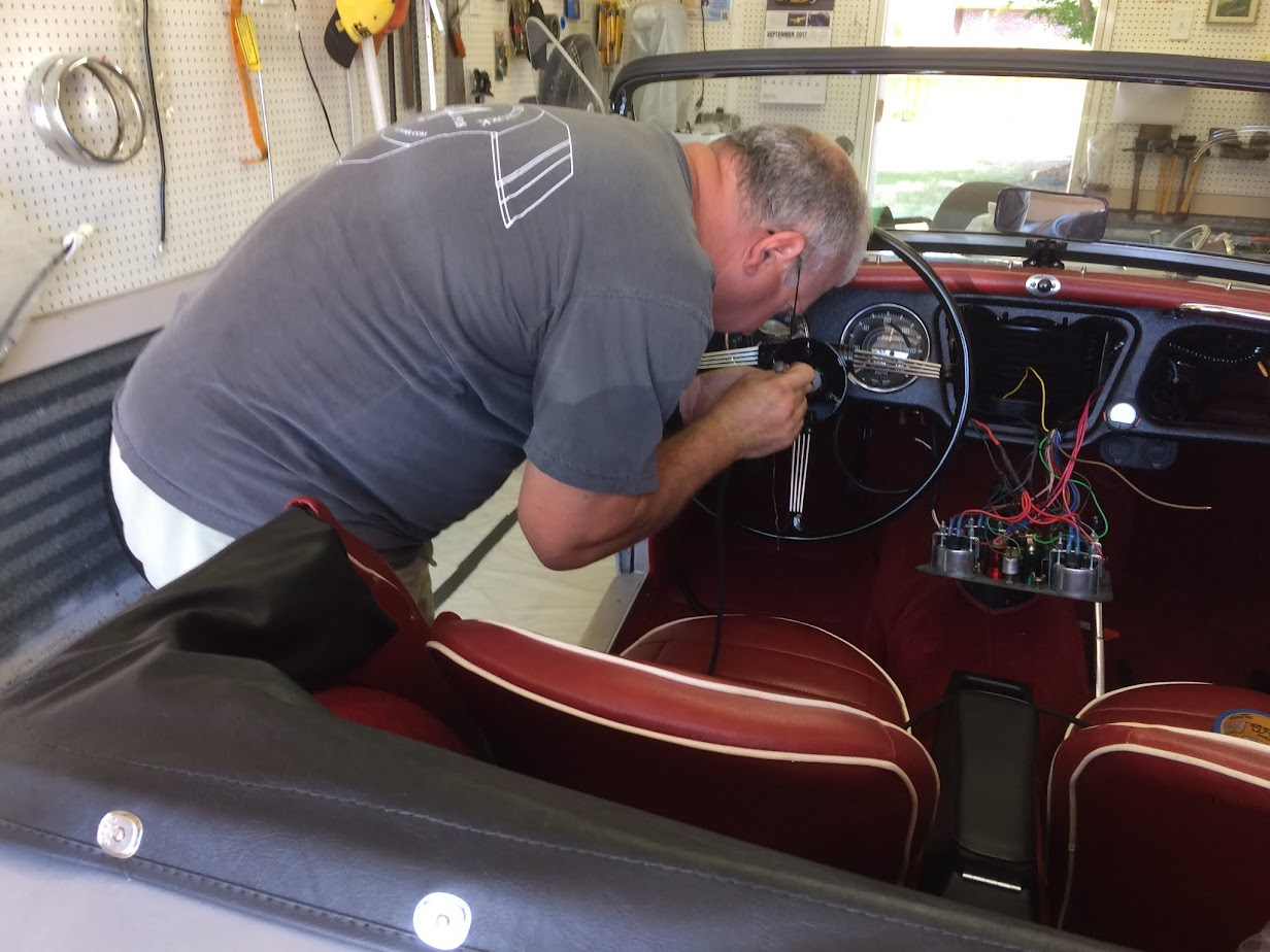 Member Profile Bill Berg British Motoring Club 1962 Triumph Stator Wiring Diagram Tube Which Fits Inside The Steering Column Serving Both As A Conduit For Harness And Mechanical Connection Control Head