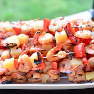 Grilled Shrimp, Red Pepper & Pineapple Kabobs.