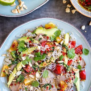 Thai Lamb Salad With Miracle Noodles.