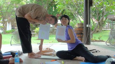 Photo: Antonie and Ziggy showing their Yoga conceptual activity!