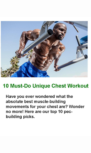 10 Must-Do Chest Workouts