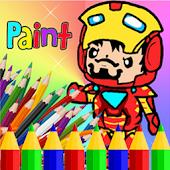 Coloring Iron Paint Man