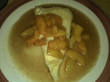 Pan Seared Reduced Fat Brie And Peach Compote Recipe