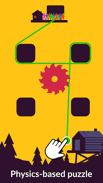Zipline Valley - Physics Puzzle Game Android App Screenshot